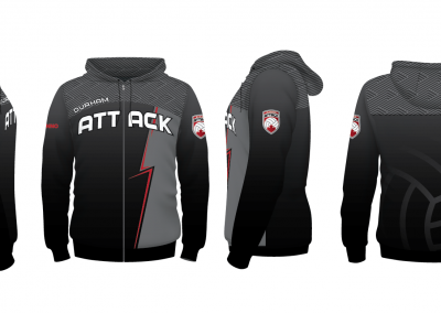 Durham Attack- Sublimated Hoodie - Fan Wear - Zip Up_2-01